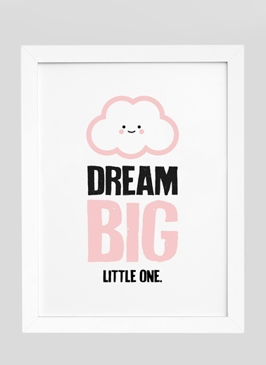 Nordbagen Dream Big Poster Beyaz